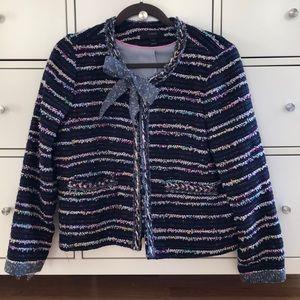 EUC J. Crew Navy Tweed /Boucle Jacket